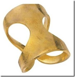 gold lunares napkin rings - set of 4 vivre