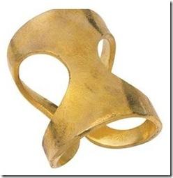 gold lunares napkin rings - set of 4 vivre
