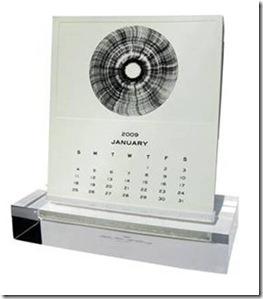 mrs. john l strong calendar on lucite base