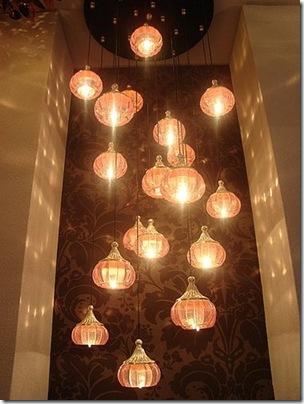 lumos pink chandelier
