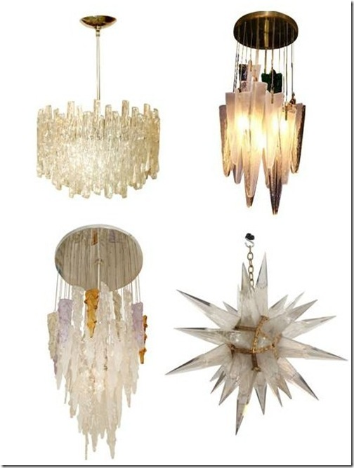 vintage icicle chandeliers